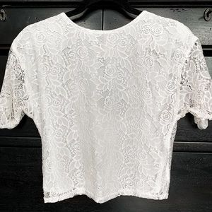 Sank Skirt White Lace Top